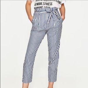 Zara Striped Paperbag Pants